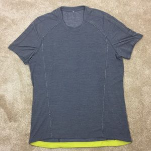 🧗🏻‍♂️LULULEMON Gray Green STRETCH Work Out SHIRT
